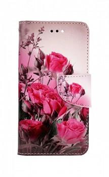 Knížkové pouzdro na iPhone SE 2020 Romantické růže