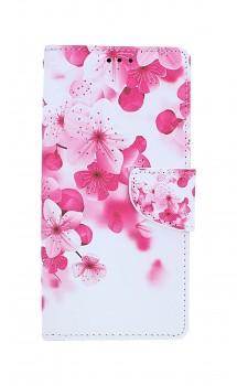 Knížkové pouzdro na iPhone SE 2020 Růžové kvítky