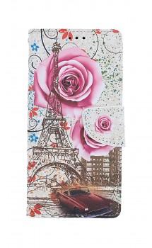 Knížkové pouzdro na iPhone SE 2020 Rozkvetlá Paříž