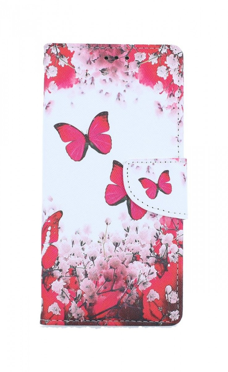 Knížkové pouzdro na iPhone SE 2020 Růžoví motýlci