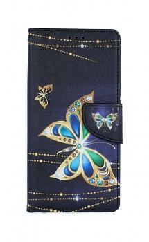 Knížkové pouzdro na iPhone SE 2020 Zlatý motýl