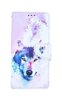 Knížkové pouzdro na iPhone SE 2020 Polární vlk