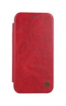 Knížkové pouzdro Nillkin Qin na iPhone 12 Pro kožené červené
