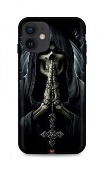 Zadní silikonový kryt DARK na iPhone 12 Grim Reaper