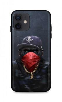 Zadní silikonový kryt DARK na iPhone 12 Monkey Gangster