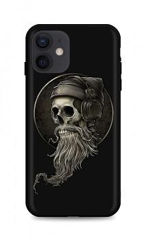 Zadní silikonový kryt DARK na iPhone 12 Music Skeleton
