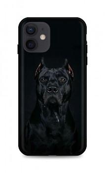 Zadní silikonový kryt DARK na iPhone 12 Dark Pitbull