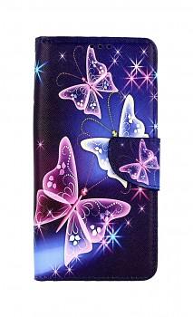 Knížkové pouzdro na Realme 7i Modré s motýlky