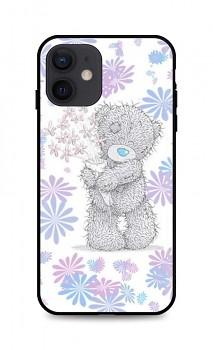 Zadní silikonový kryt DARK na iPhone 12 Floral Teddy
