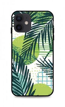 Zadní pevný kryt LUXURY na iPhone 12 Green Leaves