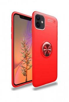 Zadní silikonový kryt na iPhone 12 červený s červeným prstenem