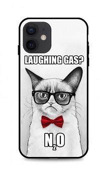 Zadní 3D silikonový kryt na iPhone 12 Grumpy Cat
