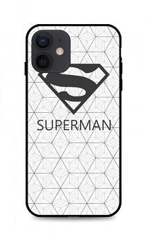 Zadní 3D silikonový kryt na iPhone 12 Bílý Superman