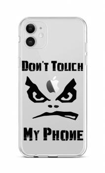 Zadní silikonový kryt na iPhone 12 Don't Touch průhledný