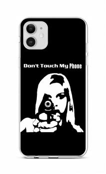 Zadní silikonový kryt na iPhone 12 Don't Touch Gun