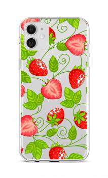 Zadní silikonový kryt na iPhone 12 Strawberries
