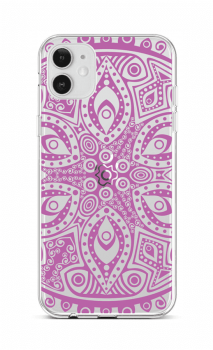 Zadní silikonový kryt na iPhone 12 Violet Mandala