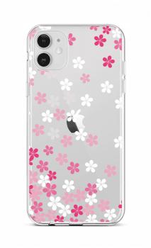 Zadní silikonový kryt na iPhone 12 Pink Blossom
