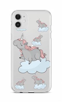 Zadní silikonový kryt na iPhone 12 Grey Unicorns