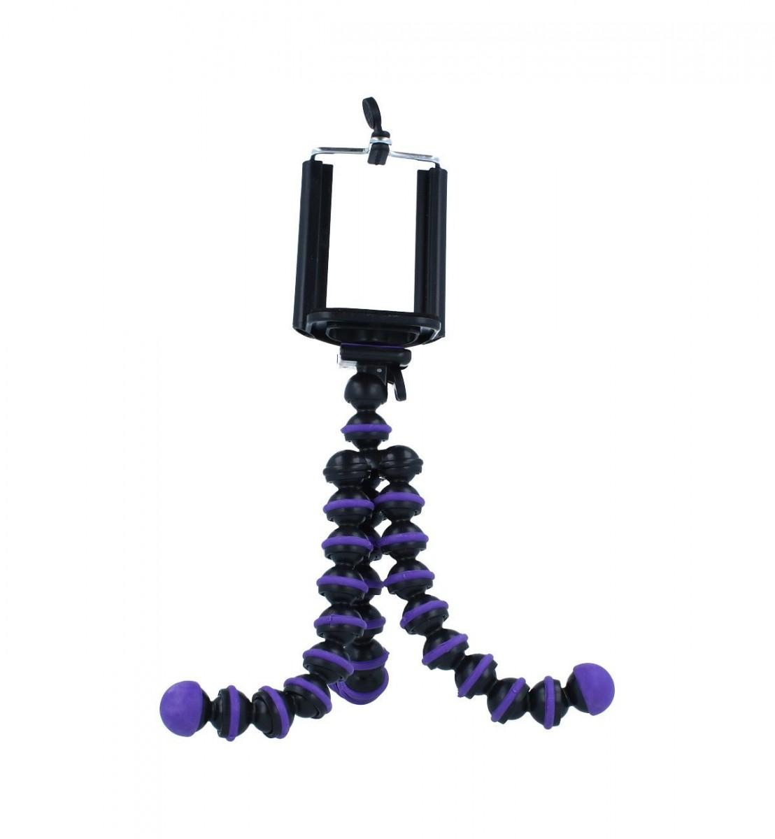 Stativ pro mobilní telefon TopQ Ball fialový 55335