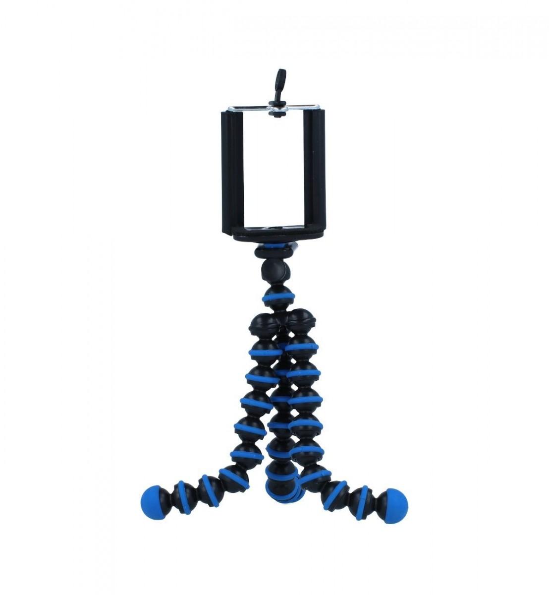 Stativ pro mobilní telefon TopQ Ball modrý 55348