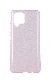 Zadní pevný kryt na Samsung A42 glitter růžový