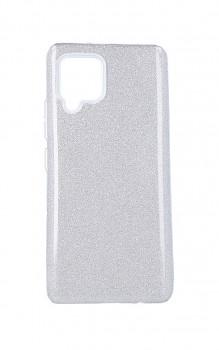 Zadní pevný kryt na Samsung A42 glitter stříbrný