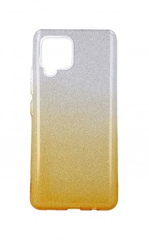 Zadní pevný kryt na Samsung A42 glitter stříbrno-oranžový