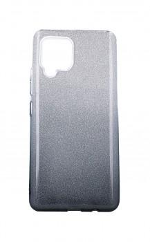 Zadní pevný kryt na Samsung A42 glitter stříbrno-černý