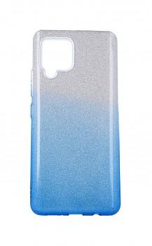 Zadní pevný kryt na Samsung A42 glitter stříbrno-modrý