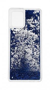 Zadní silikonový kryt na Samsung A42 Liquid modrý