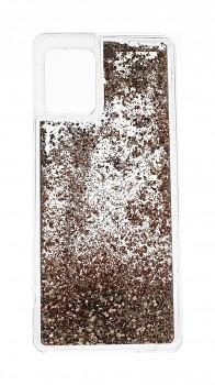 Zadní silikonový kryt na Samsung A42 Liquid zlatý