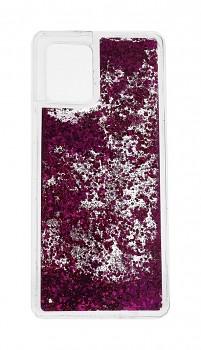 Zadní silikonový kryt na Samsung A42 Liquid růžový