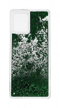 Zadní silikonový kryt na Samsung A42 Liquid zelený
