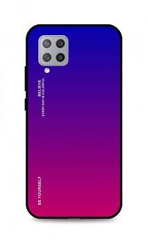 Zadní pevný kryt LUXURY na Samsung A42 duhový fialový