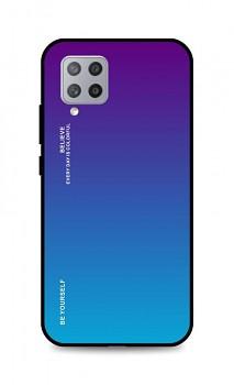 Zadní pevný kryt LUXURY na Samsung A42 duhový purpurový