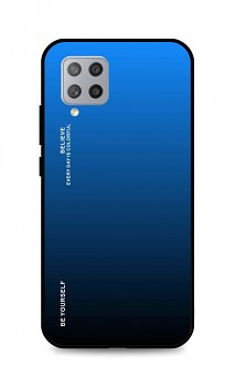 Zadní pevný kryt LUXURY na Samsung A42 duhový modrý
