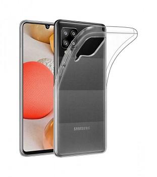 Zadní silikonový kryt na Samsung A42 1 mm průhledný