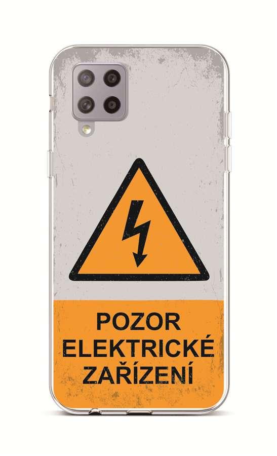 Zadní silikonový kryt na Samsung A42 Pozor elektrické zařízení