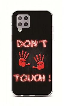 Zadní silikonový kryt na Samsung A42 Don't Touch Red