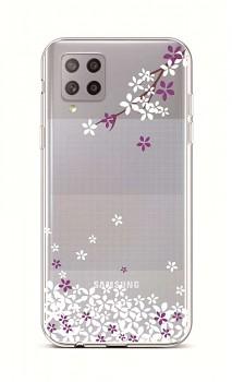 Zadní silikonový kryt na Samsung A42 Květy sakury
