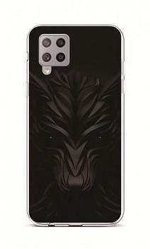 Zadní silikonový kryt na Samsung A42 Černý vlk