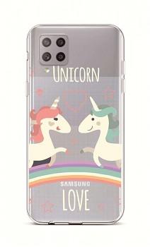 Zadní silikonový kryt na Samsung A42 Unicorn Love