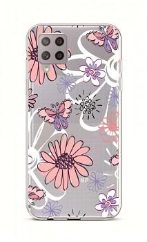 Zadní silikonový kryt na Samsung A42 Flowers