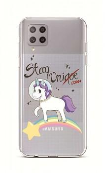 Zadní silikonový kryt na Samsung A42 Stay Unicorn