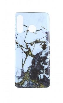 Zadní pevný kryt na Huawei P30 Lite Marble Glitter bílo-černý