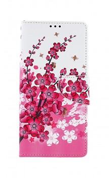 Knížkové pouzdro na Samsung A42 Kytičky textil