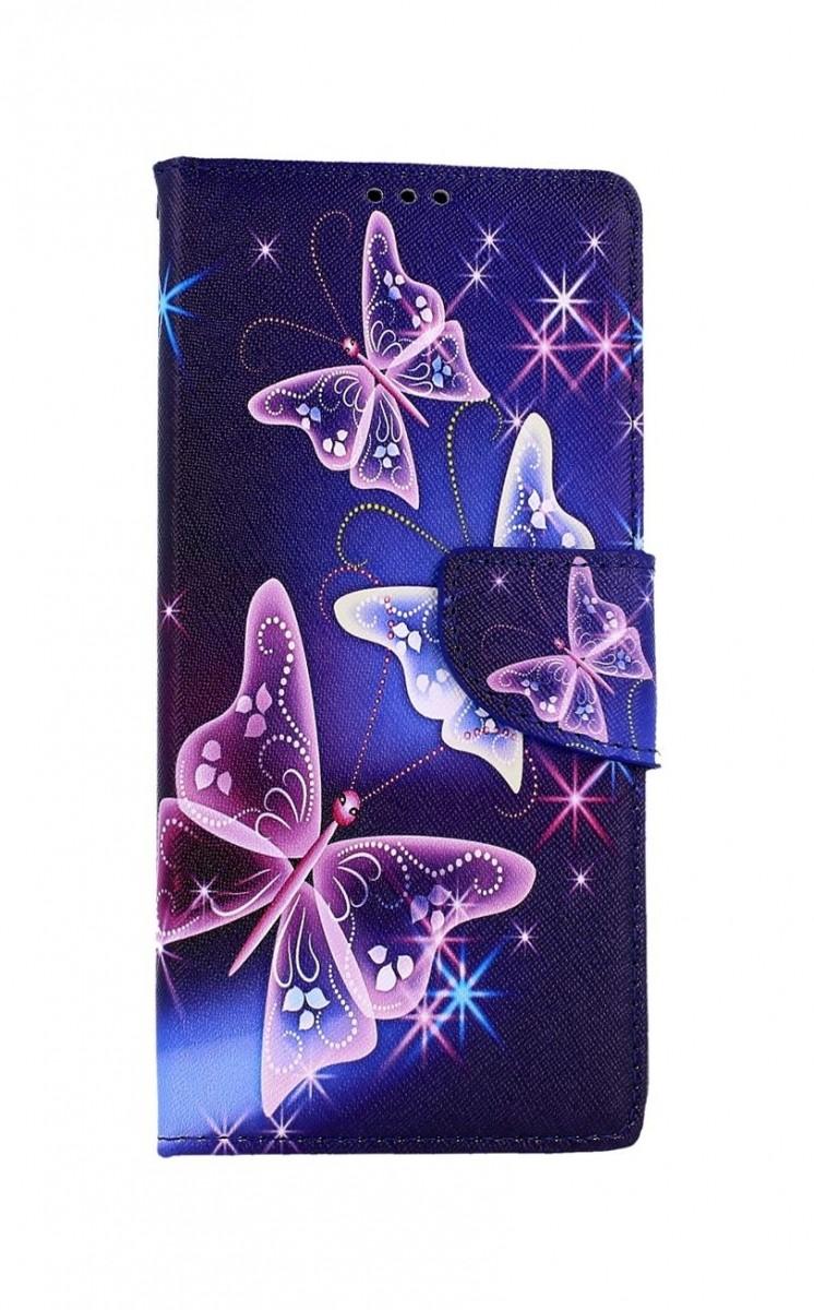 Knížkové pouzdro na Samsung A42 Modré s motýlky