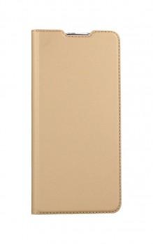 Knížkové pouzdro Dux Ducis na Samsung A42 zlaté