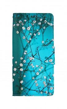 Knížkové pouzdro na Samsung A42 Modré s květy